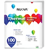 """Nuova Premium Thermal Laminating Pouches 9"""" x 11.5"""", Letter Size, 3 mil, 100 Pack (LP100H)"""