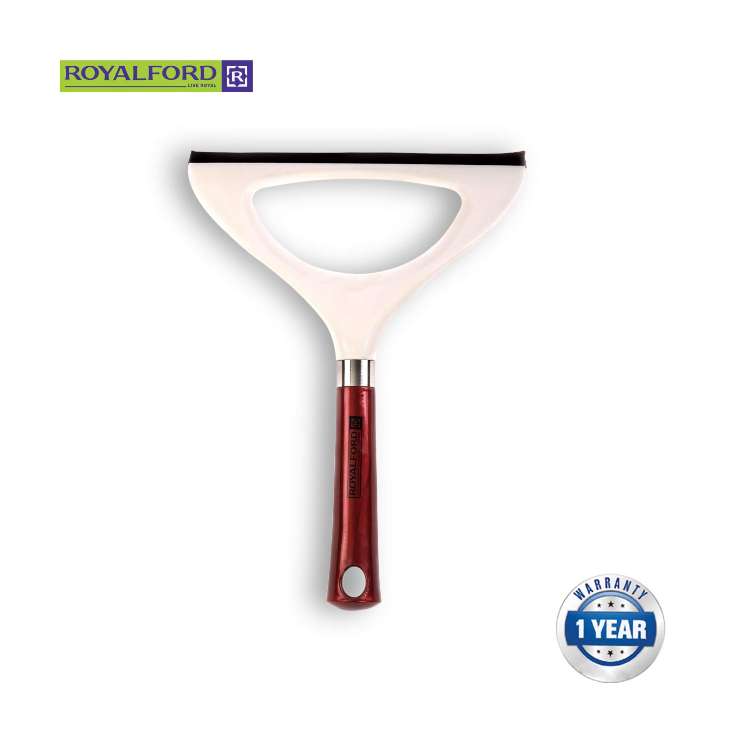 Royalford Water Wiper, Lightweight and Multi-Coloured Shower Glass Wiper with Flexible Grip
