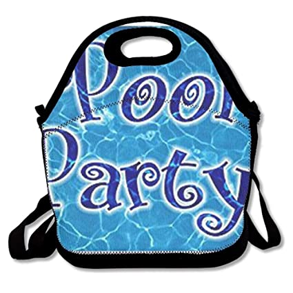 a1bca457a002 Amazon.com: Lunch Boxes Pool Party Lunch Tote-Personalized Lunch ...