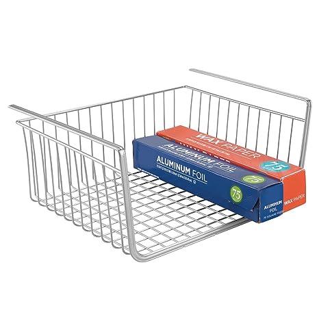 mDesign Cesta para colgar de alambre - Resistente cesta de metal ...