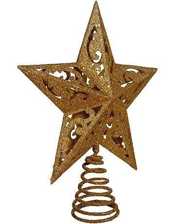 Kurt Adler 8-Inch Gold Glittered 5 Point Star Treetop - Shop Amazon.com Christmas Tree Topper