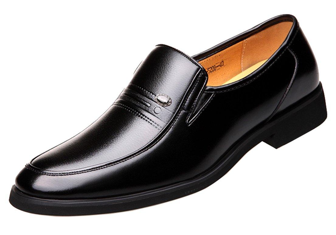 Seaoeey - Zapatos Planos con Cordones Hombre 38 EU|Negro
