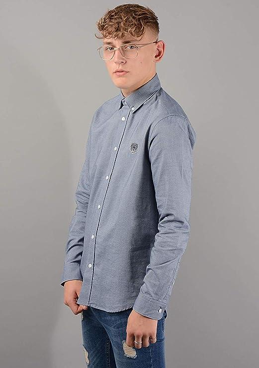 Kenzo Hombre 5CH4001LD Camisa Azul Marino - Azul, XL: Amazon ...