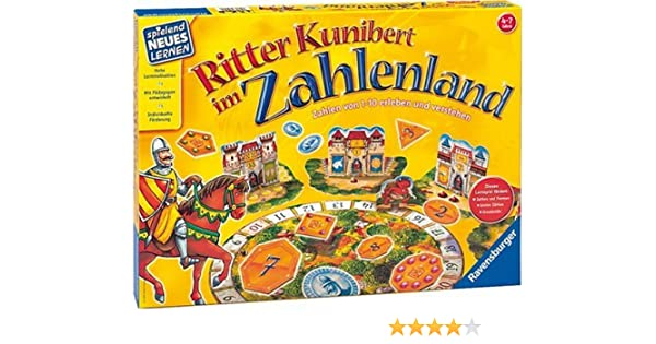 Ravensburger 25020 Ritter Kunibert im Zahlenland - Juego de Mesa para niños [Importado de Alemania]: Amazon.es: Juguetes y juegos