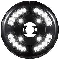 HUVE Sombrilla De Patio Ligera Lámpara De Tienda De Campaña Portátil Luz De Poste De Sombrilla con 3 Modos De Iluminación Proyector De Carga USB