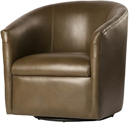 Comfort Pointe Draper Swivel Chair in Mink , Brown