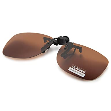 b76b5653846 Image Unavailable. Image not available for. Color  Aroncent Polarized Clip-on  Flip up Metal Clip Sunglasses Lenses Glasses Unbreakable Driving Fishing ...