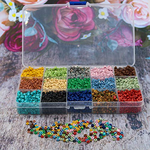 Over 8,000 Ceramic Small Pony Beads for Jewelry Making with Free Genuine Leather Cord Necklace - Handmade Colorful Premium Quality Craft Bead Kit - Unique Craft Supplies
