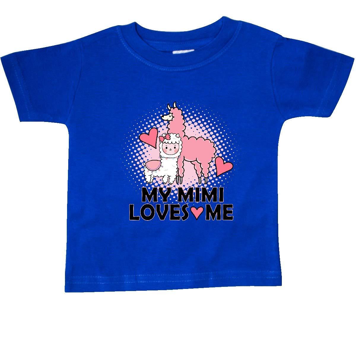 inktastic My Mimi Loves Me Llama Baby T-Shirt