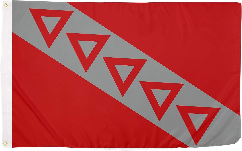 Tau Kappa Epsilon TKE Chapter Fraternity Flag 3 feet x 5 feet Polyester Banner Sign Decor TKE