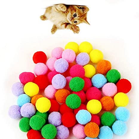 JpGdn - Juego de Pelotas de pompón para Gato (100 Unidades)