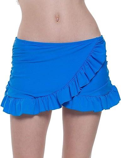 Mini Falda De Las Señoras Elegante Único Volantes Irregular ...
