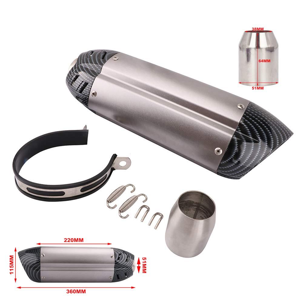 Motorcycle Slip on Exhaust Muffler - Short Universal 1.5-2