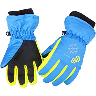 TRIWONDER Manoplas Impermeables Ni/ños 3-12 A/ños Calientes Nieve Guantes para Esqu/í Snowboard Exteriores Invierno