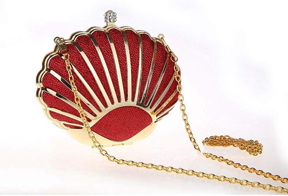 Pochette e Clutch da Donna Borsa a Tracolla Casual a Tracolla per Donna (Color : Red) Red
