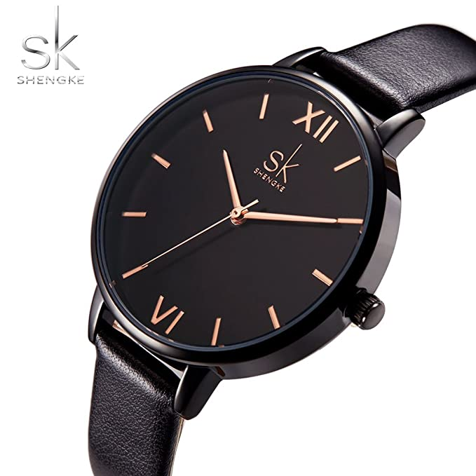 Amazon.com: SK Fashion Ladies Watches Leather Female Quartz Watch Women Wristwatch Thin Casual Strap Watch Reloj Mujer Marble Dial: Watches