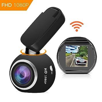 hqbking WiFi Auto Cámara Dashcam Full HD 1080p Mini salpicadero cámara Coche DVR con visión Nocturna