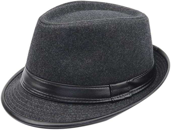 Hibasing Sombrero De Moda Caballero Sombrero De Sol Gorra De Viaje ...