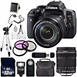 Canon EOS Rebel T6i DSLR Camera with EF-S 18-135mm f/3.5-5.6 IS STM Lens 0591C005 + 67mm 3 Piece Filter Kit (International Model no Warranty)
