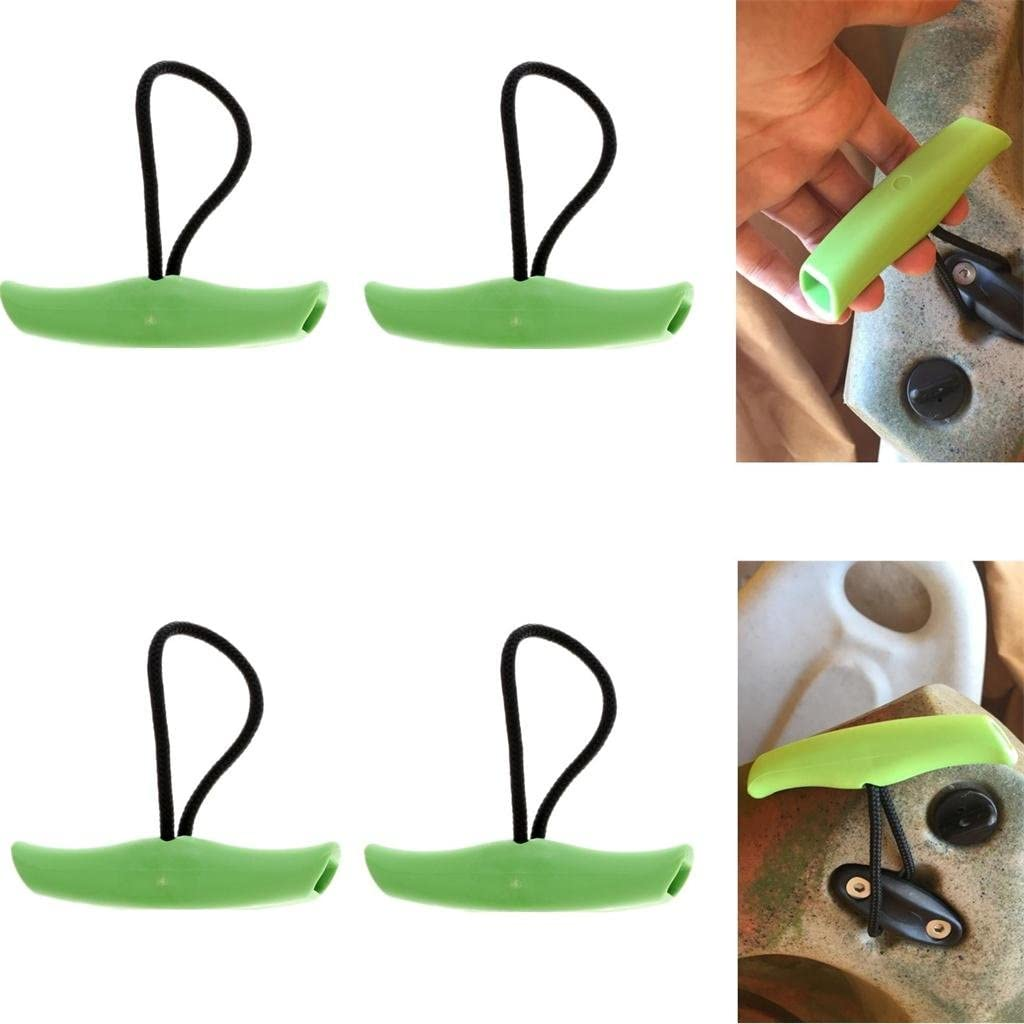 Toygogo 4X Nylon Canoe Kayak Boat Toggle Carry Handle Grab /& Rope Accessories Green