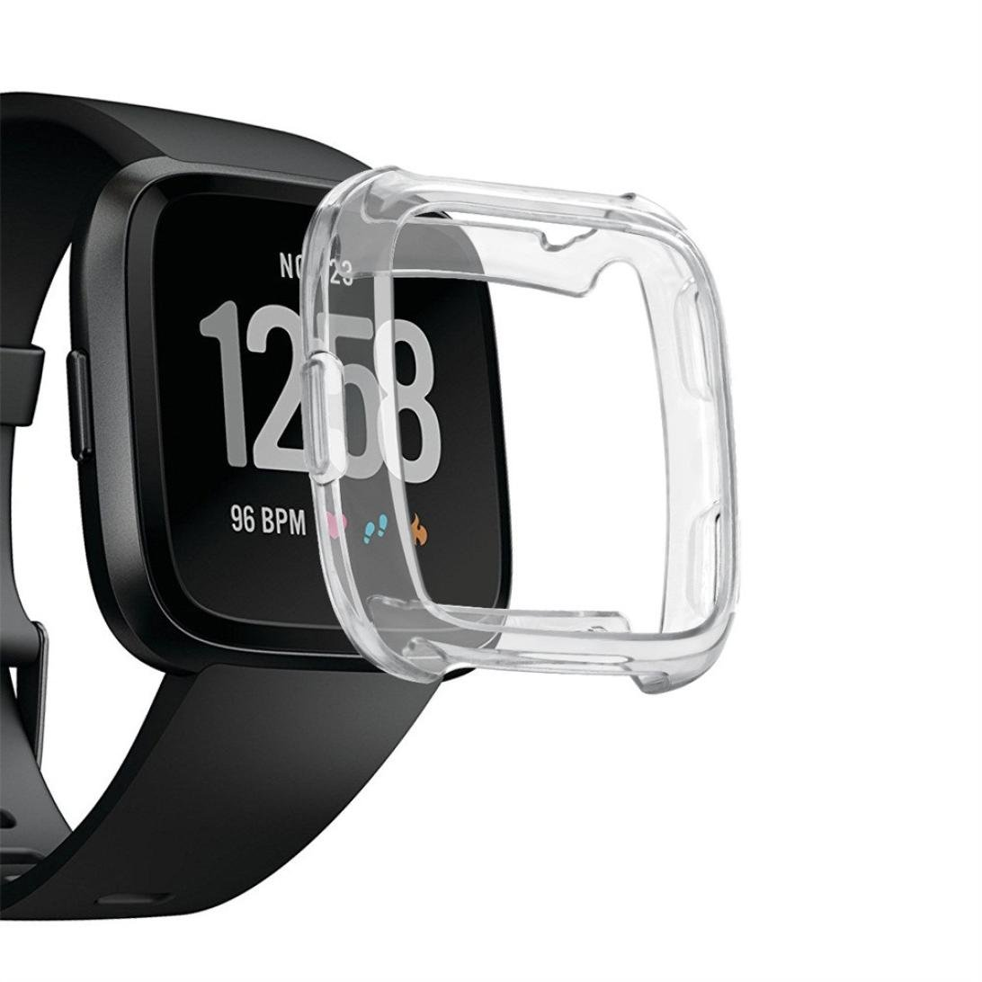 hunputa Fitbit Versaカバー、TpuシリコンカバーケースWatch Casingガードプロテクターfor Fitbit Versa Smart Watch B07BZHRVJL クリア