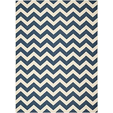 Safavieh Courtyard Collection CY6244-268 Navy and Beige Indoor/ Outdoor Area Rug, 6 feet 7 inches by 9 feet 6 inches (6'7  x 9'6 )