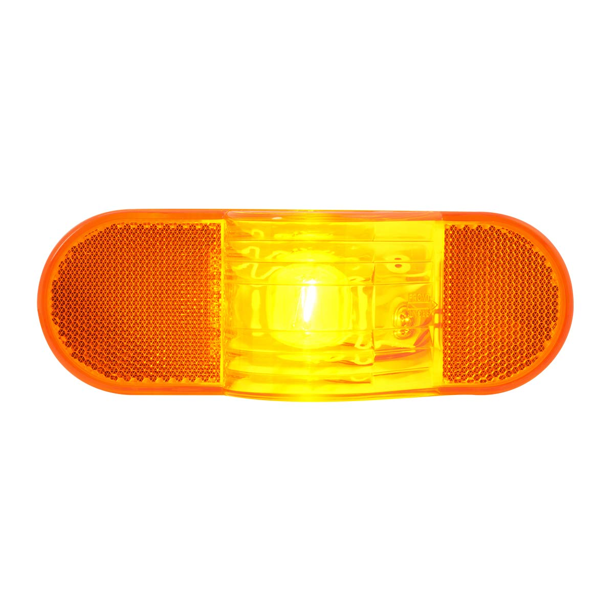 Oval Amber Side Turn with Reflector GG Grand General 80703 Sealed Light