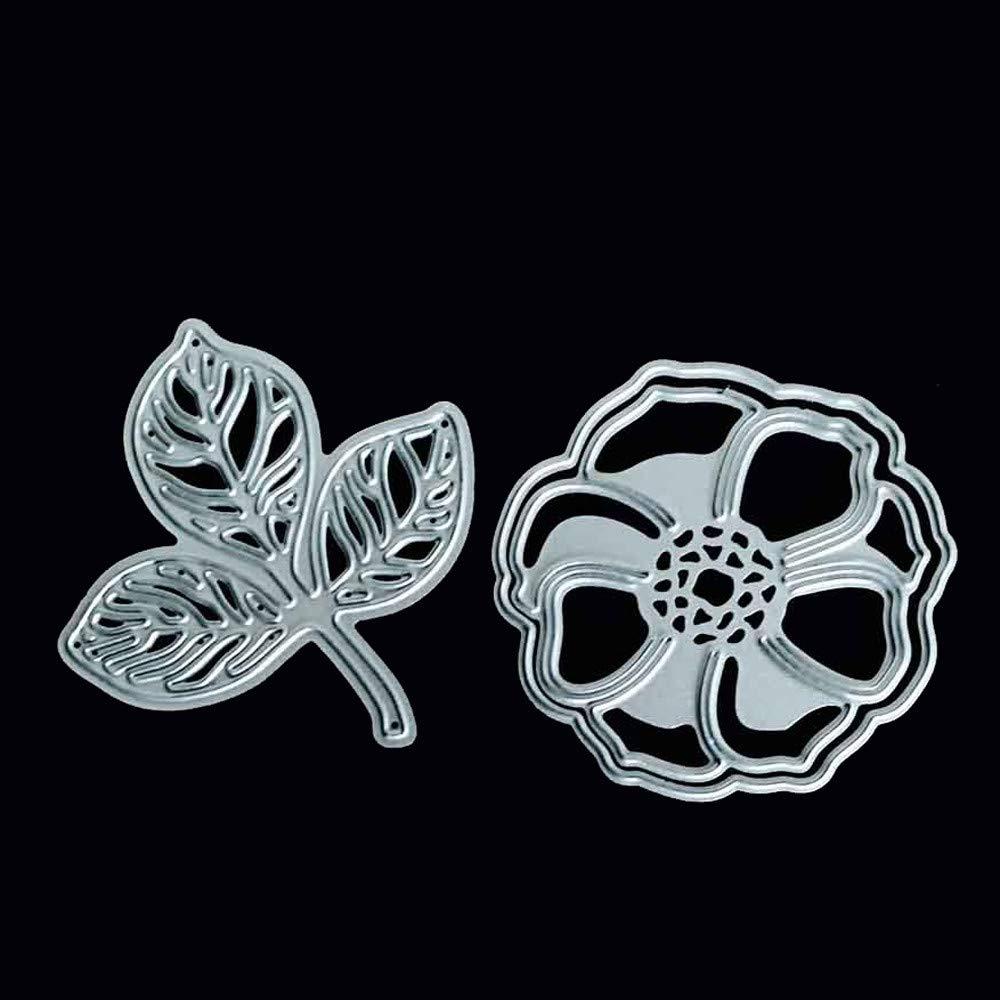 HuaMore New Snowflake Metal Cutting Dies Stencils DIY Scrapbooking Album Paper Card per Sizzix Big Shot e Altre perforatrici