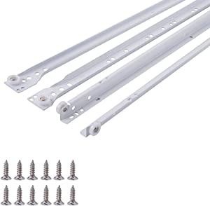 AmazonBasics Drawer Slides - 22-Inch, White Powder Coat, 10-Pack