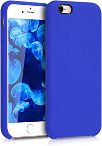 kwmobile TPU Silicone Case Compatible with Apple iPhone 6 / 6S - Case Slim Protective Phone Cover with Soft Finish - Royal Blue