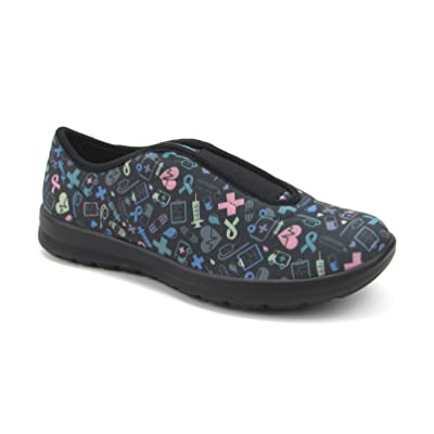 Women's Cute Memory Foam Nursing Shoes with Designs - Printed - Florence Move: Shoes