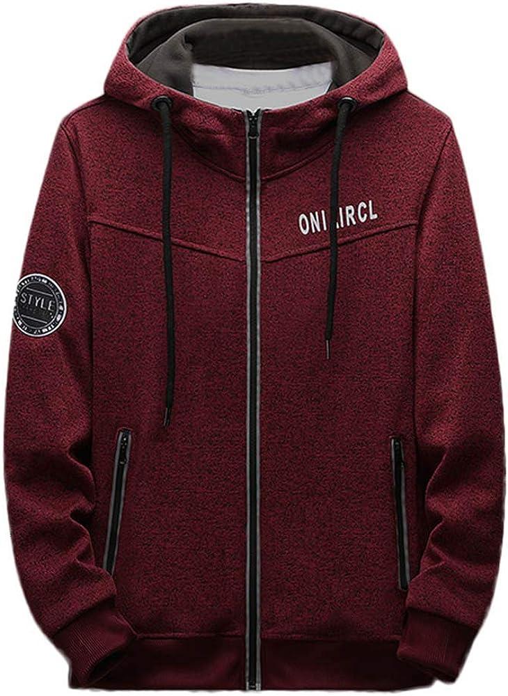 Clearance Forthery Mens Fleece Pullover Hoodies Sweatshirt Button Down Warm Outwear