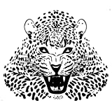 Kinwell Large Wild Leopard Animal Zoo Wall Decal Wall Stickers for Room Art Decorations Picture