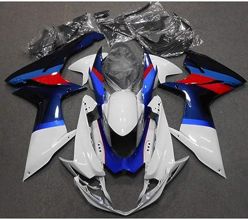 ZXMOTO S0611RED Motorcycle Bodywork Fairing Kit for Suzuki GSXR 600 GSXR 750 2011 2012 2013 2014 2015 2016 2017 2018 2019 Red Pieces//kit: 25