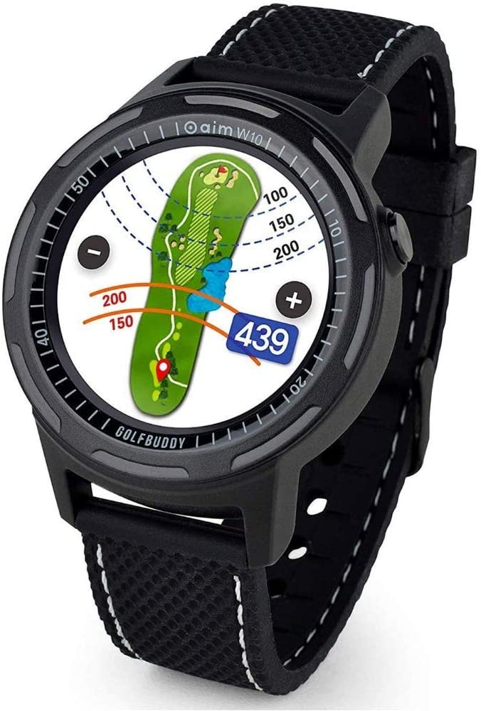 Golf Buddy Aim W10 Gps Watch Aim W10 Golf Gps Uhr Schwarz Medium Amazon De Navigation