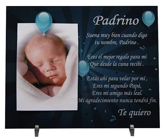 Marco de fotos para Padrino - Regalo para bautizos, Navidad, cumpleaños.: Amazon.es: Bebé