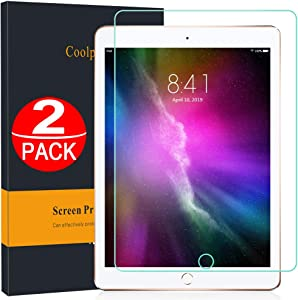 [2 Pack] iPad 6th Generation Screen Protector 9.7,[ 9H Hardness] Tempered Glass Film for iPad 2018/2017/iPad Air 2/Air 1/iPad Pro 9.7 inch/5 th, Compatible Apple Pencil, Anti-Scratch, High Definition