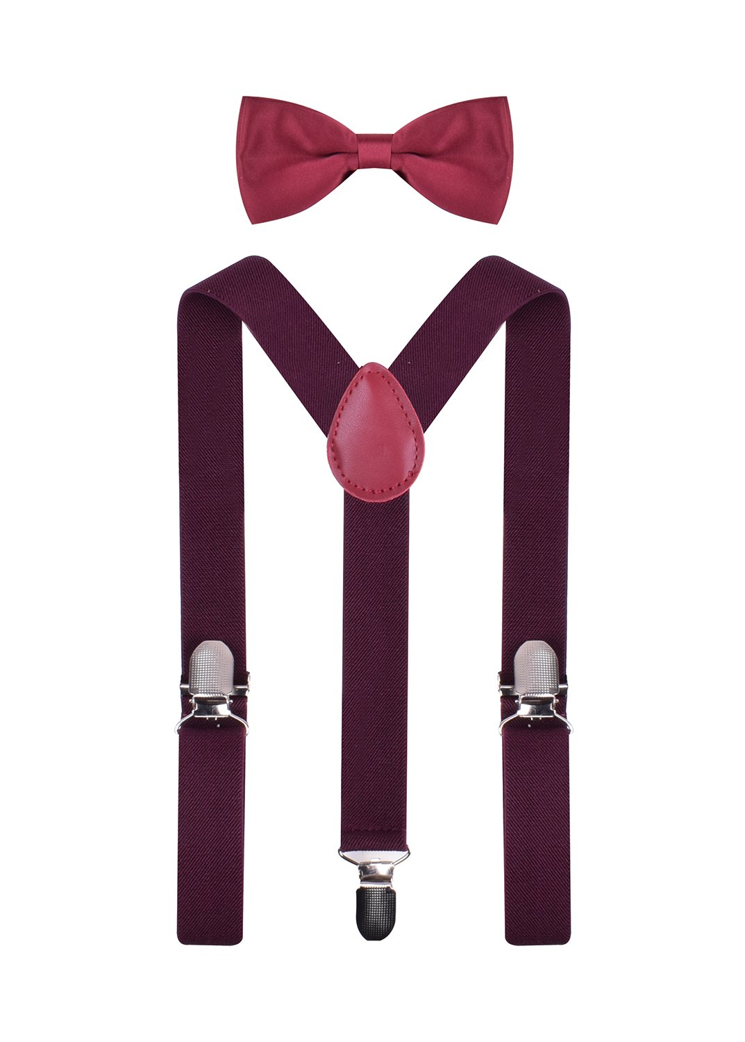 BODY STRENTH Boys Suspenders and Bow Tie Set Adjustable Elastic BODYSTR80004