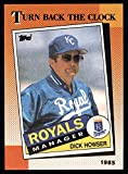 1990 Topps # 661 Turn Back The Clock Dick Howser Kansas City Royals (Baseball Card) Dean's Cards 8 - NM/MT Royals