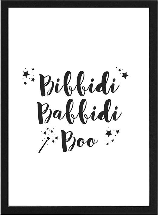 Papers Rain Lámina Infantil Bibbidi BABBIDI Boo para enmarcar. -Cenicienta- Se envía Desde España (30x40cm): Amazon.es: Hogar
