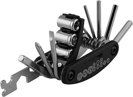 New 15 In 1 Bike Bicycle Multi Function Steel Wrench Repair Tool Kits