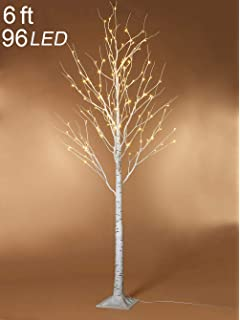 Amazon.com: Bolylight LED Birch Tree 8ft 136L LED Christmas ...