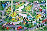 Silli Me Animal World Zoo Play Mat with Roads and Train Tracks