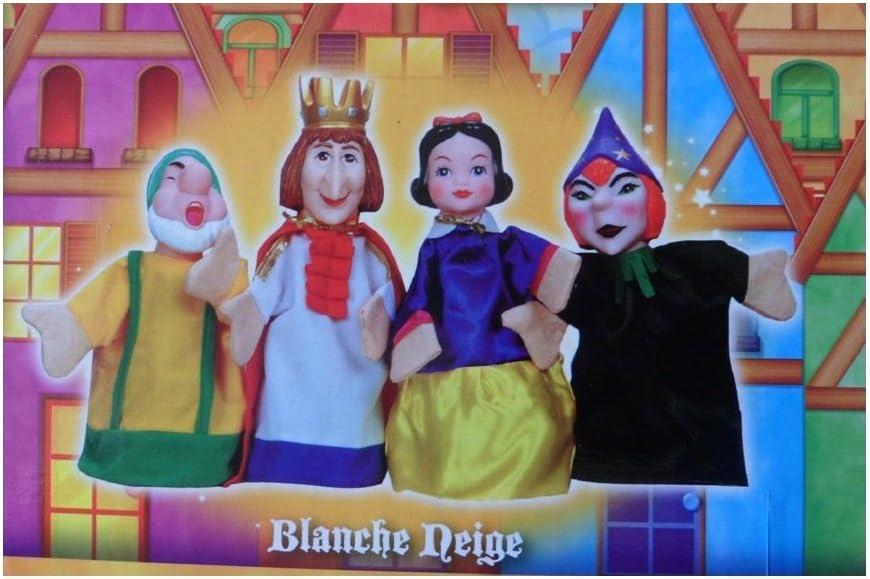 Théâtre de marionnettes Large 4 Marionnette à main Set-Blanche Neige