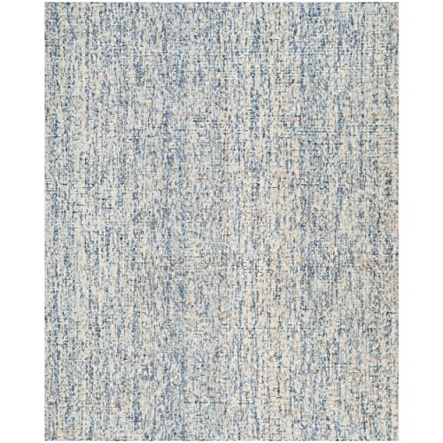 Safavieh Abstract Collection ABT468C Contemporary Handmade Dark Blue and Rust Premium Wool Area Rug (8′ x 10′)