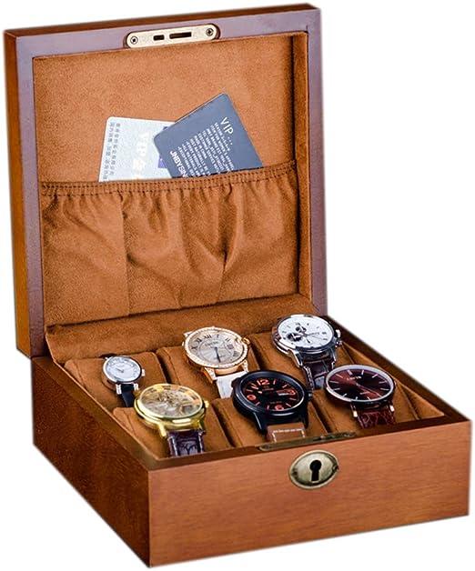 Elegante Caja de Reloj para 610 Relojes Compartimentos de Madera ...