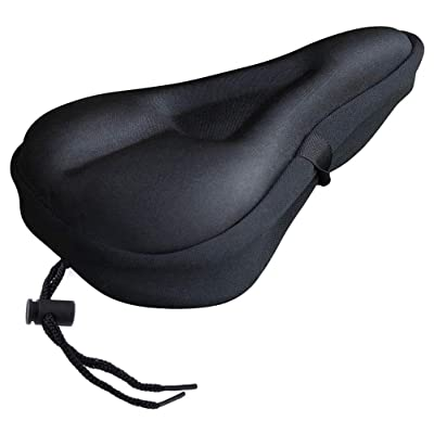 NOLOGO Kyt-My Soft Gel Bike Seat Cover Soft Gel Bicycle Seat Bike Saddle Cushion Seat Cushion for Bicycle Accessories Bike Saddle Cover #40 (Color : Black): Home & Kitchen