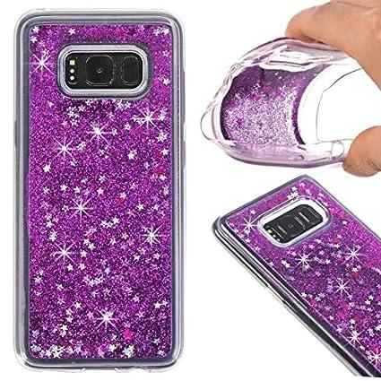 amazon com galaxy s8 plus liquid quicksand case shiny bling glitter