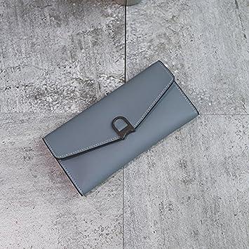 LLZZPQB Monedero/Monedero Mujer Long Student Zipper Multi ...