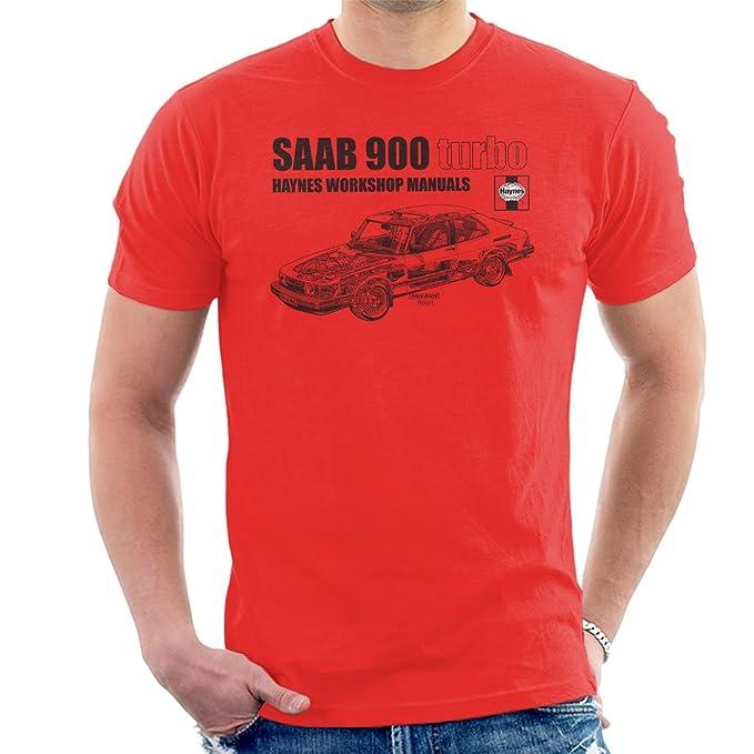Haynes Workshop Manual 0765 Saab 900 Turbo Black Mens T-Shirt